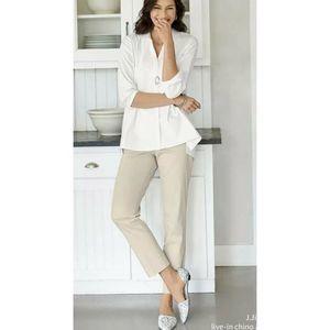 J Jill Live In Chino Khaki Pants Tan Straight Leg